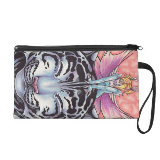 Faerie Hugs: White Tiger Wristlet Clutches