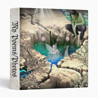 Faerie in Elven Pond Vinyl Binder