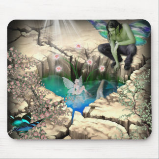 Faerie in Elven Pond Mouse Pad