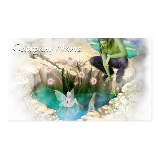 Faerie in Elven Pond Vignette Double-Sided Standard Business Cards (Pack Of 100)