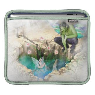 Faerie in Elven Pond Vignette Sleeves For iPads