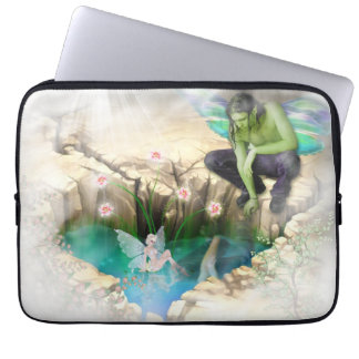 Faerie in Elven Pond Vignette Laptop Sleeves