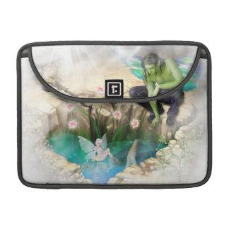 Faerie in Elven Pond Vignette Sleeves For MacBook Pro
