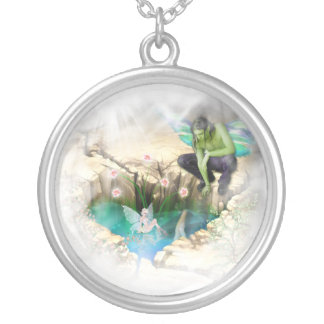 Faerie in Elven Pond Vignette Custom Necklace