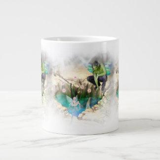 Faerie in Elven Pond Vignette Jumbo Mug