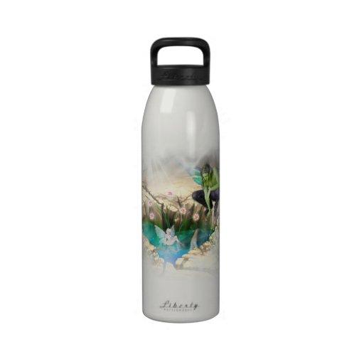 Faerie in Elven Pond Vignette Reusable Water Bottles
