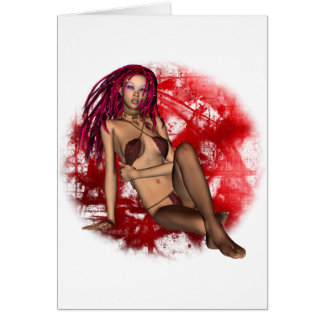 Faerie in Red Greeting Card