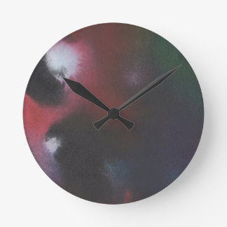Faerie Madness Abstract Clock