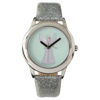 Faerie mágico de hadas en un vestido blanco relojes de mano