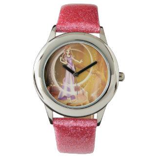 Faerie mágico de hadas que lleva un vestido rosado relojes de mano
