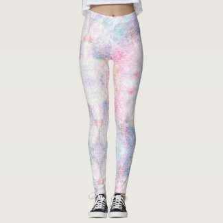 Faerie: Pale Rose, Romance, Biloba Flower & Tundra Leggings