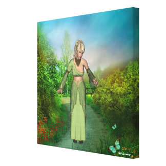 Faerie Realm Princess Butterflies Wrapped Canvas