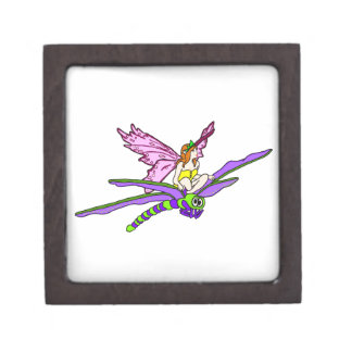 Faerie Riding a Dragonfly Premium Jewelry Box
