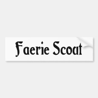 Faerie Scout Bumper Sticker