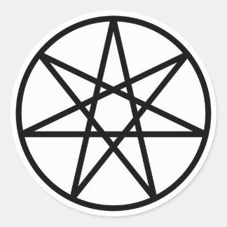Faerie Star Classic Round Sticker