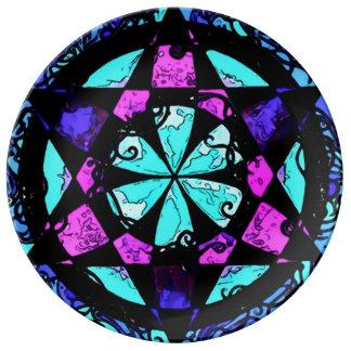 Faerie Star Negative Release Mandala Ritual Plate