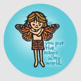 faerie sticker. classic round sticker