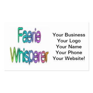 Faerie Whisperer Rainbow Business Card