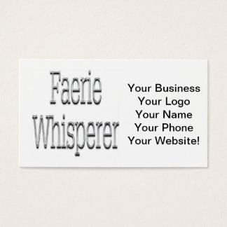 Faerie Whisperer Silver Business Card