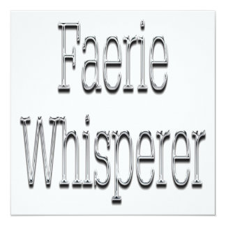 Faerie Whisperer Silver Card
