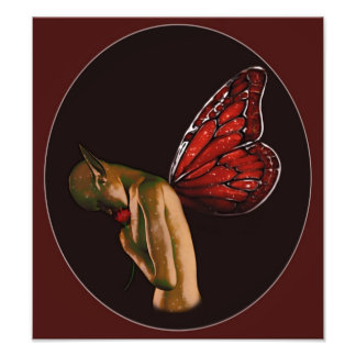 Faerie With A Flower Photographic Print