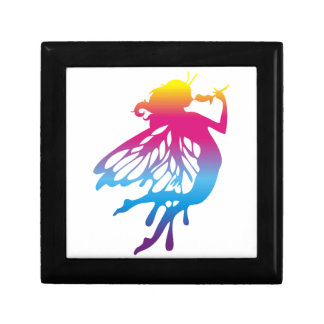 Faerie with beautiful colors trinket box