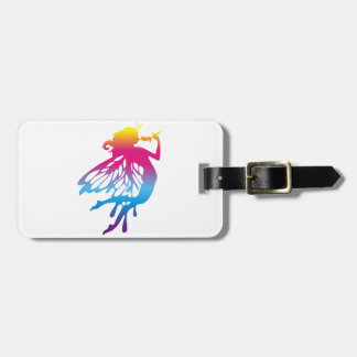 Faerie with beautiful colors luggage tag