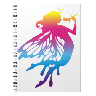 Faerie with beautiful colors note book