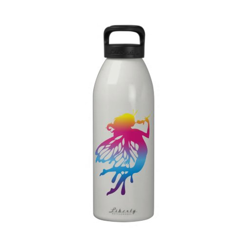 Faerie with beautiful colors reusable water bottles