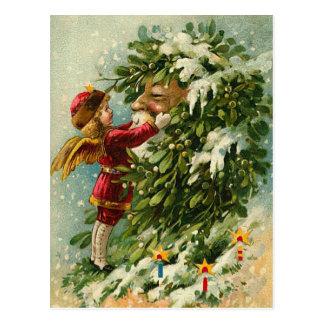 Faerie y Santa del navidad del Victorian Tarjeta Postal
