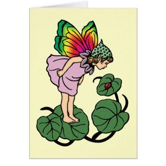 Faerie y tarjeta de felicitación de señora Bug