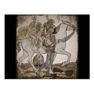 Faeries a caballo postales