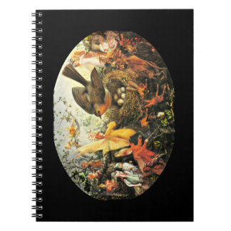 Faeries and Robin s Nest Spiral Notebook