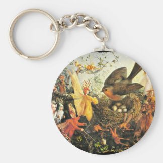 Faeries and Robin's Nest Keychain