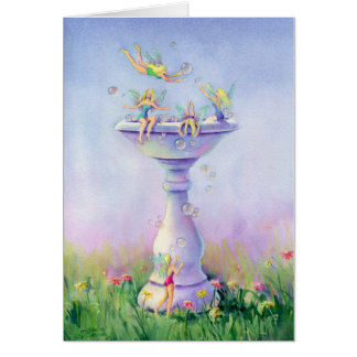 FAERIES BUBBLE BATH by SHARON SHARPE Card