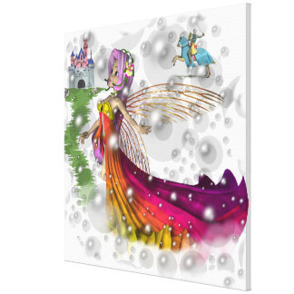 """Faeries,Castles and Knights canvas Wrap 30x30"""""""