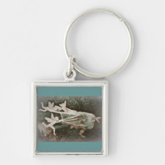Faeries Catching Nisse gnome Key Chain
