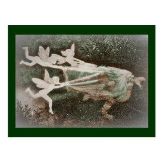 Faeries Catching Nisse (gnome) Postcard