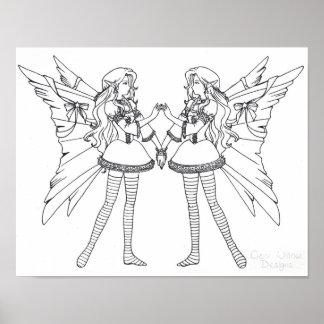 Faeries de Lolita Color-Su-Propios Poster