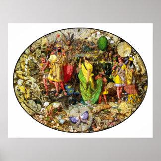 Faeries de Richard Dadd Oberon y Titania Impresiones