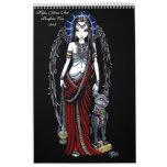 Faeries góticos #2 de la cartera dos del arte de M Calendarios