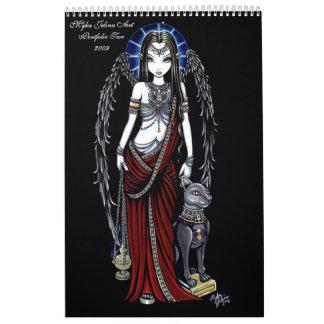 Faeries góticos 2 de la cartera dos del arte de M Calendarios