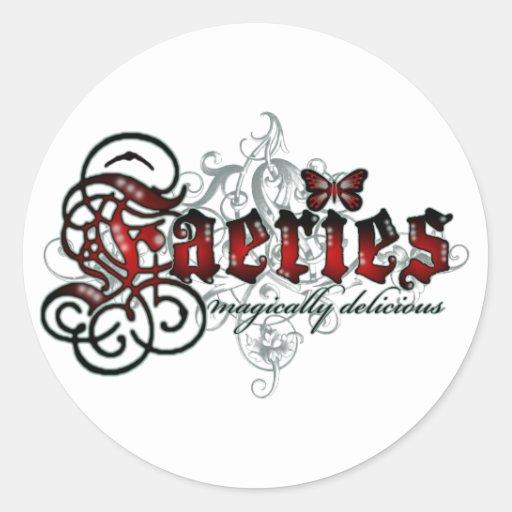 Faeries Magically Delicious Classic Round Sticker