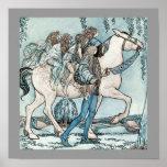 Faeries on Horseback Poster