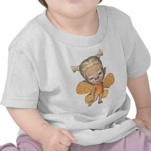 Faeries que estrangulan del bebé de la mariposa camiseta