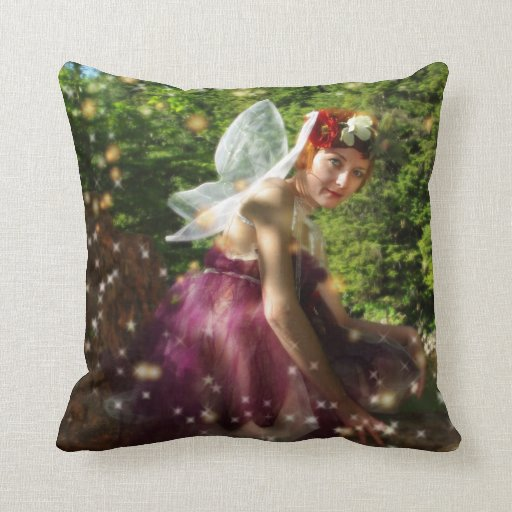 Faeries throw pillows