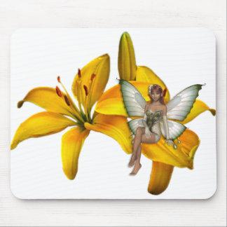 Faery 3 de la flor del KRW Tapetes De Ratones