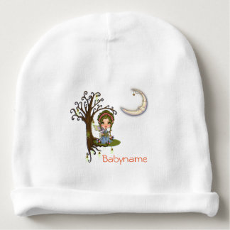Faery Celestial Keeper Moon & Stars Personalized Baby Beanie