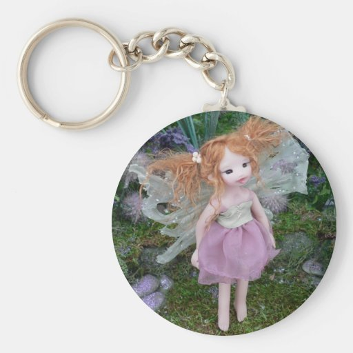Faery Child In Pigtails Key Chain