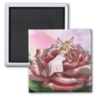 Faery color de rosa rosado (imán)